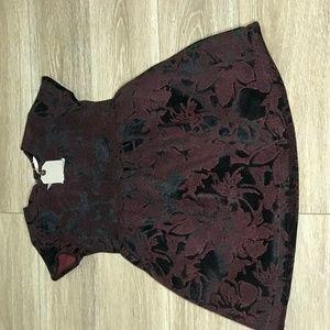 Black and Purple floral dress